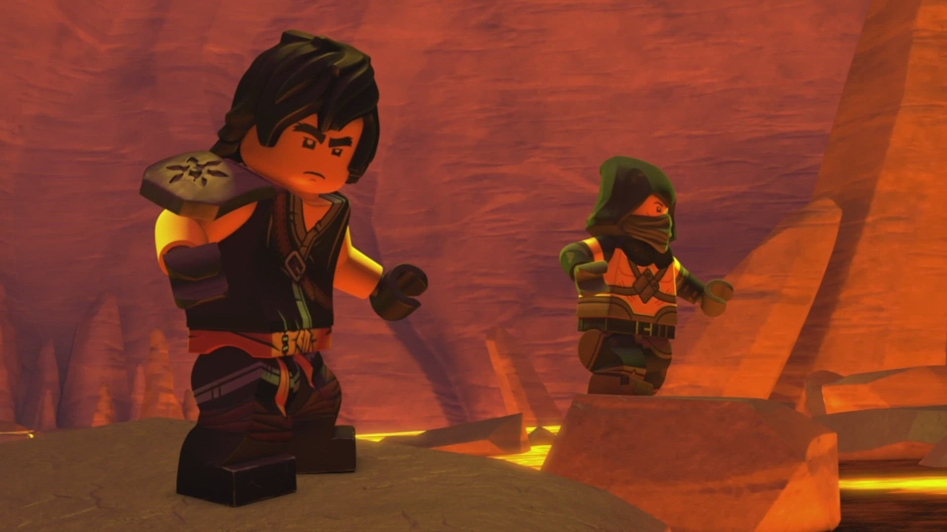 In the Skull Dungeons: 'The Lava Monster' – LEGO® NINJAGO® Master of the Mountain